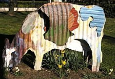 Corrugated iron cow sculpture, New Zealand High Commission, Canberra, Australia | Flickr - Photo Sharing!