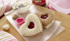 Sweetheart Finger Sandwiches | Appetizers and Snacks - Smucker's