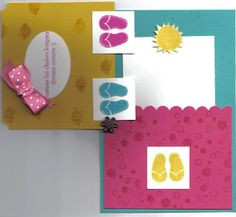 Passion scrapbooking: Carte spécial vacances ou retraite ! Flip flop card