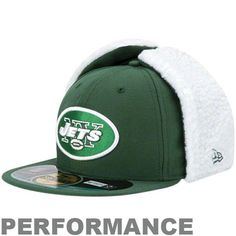 f56b135e533 Mens New York Jets Green On-Field Dog Ear NE Tech Fitted Hat