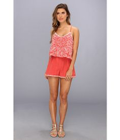 Dolce Vita Roseann Tier Embroidered Romper Burnt Coral - Zappos.com Free Shipping BOTH Ways