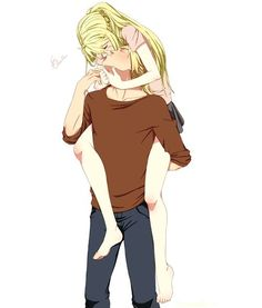 Fullmetal Alchemist - EdxWin by emma-monsta Fullmetal Alchemist Brotherhood, Fullmetal Alchemist Edward, Winry And Edward, Ed And Winry, Me Anime, Anime Love, Manga Anime, Cute Anime Couples, Anime Ships