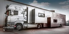 "This Carlex Design Truck Redefines The Word ""Stylish"" Carlex Design in partnership with the Polish Autokontener has released a stylish truck trailer and it looks pretty special. Would you mind traveling in this Carlex Design truck?Carlex Design Truck Do you remember the stylish semi-trailer mobile unit from Knight Rider? However, it was not very..."