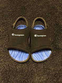 1721c7d35df Champion Boys Infant Splash Sandal Black Blue Grip 2 Wide  fashion   clothing  shoes