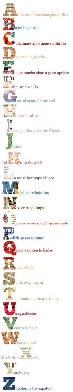 Un excelente blog con una gran cantidad de #expresiones típicas del #español con su explicación, origen y ejemplos.