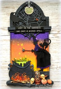 Redanne: Simon Says Stamp - Designer Spotlight Week 4 Photo Halloween, Halloween Shadow Box, Halloween Tags, Halloween Projects, Diy Halloween Decorations, Halloween 2019, Scary Halloween, Fall Halloween, Happy Halloween