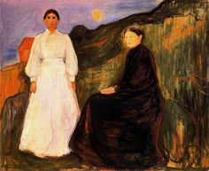 Ashes by Edvard Munch | Mother and Daughter, 1897