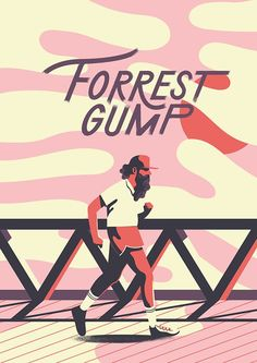 Forrest Gump by Sébastien Plassard Film Poster Design, Movie Poster Art, Poster S, Poster Layout, Cool Movie Posters, Vintage Movie Posters, Poster Wall, Forrest Gump, Cinema Posters