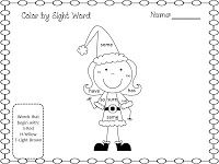 Cute for littles---The Teacher's Treasure Chest: Christmas Sight Word FREEBIE and a MEGA SALE!