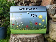 Briefkasten....Blumenwiese von KirSchenrot via dawanda.com