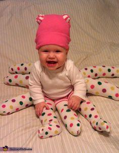 Gepunkteter Krake, selbstgenähtes Babykostüm
