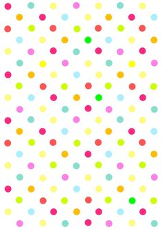 Free digital multicolored polka dot scrapbooking paper - ausdruckbares Geschenkpapier - freebie | MeinLilaPark – digital freebies