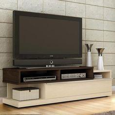 Rack de TV Tv Rack Design, Tv Cabinet Design, Centre Table Living Room, Rack Tv, Tv Units, Tv Cabinets, Media Center, Living Room Inspiration, Entertainment Center