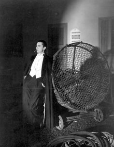 Bela Lugosi, taking a break between scenes on the set of Dracula.