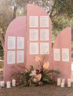 modern pink escort display- This Palm Springs wedding is one big party with mid-century meets Art Deco decor, a GWS x Lover's Society gown and a pink, yellow and black color palette! Diy Wedding Table Plans, Seating Plan Wedding, Wedding Signage, Wedding Reception, Seating Plans, Wedding Ideas, Palm Springs, Black Color Palette, Art Deco Decor