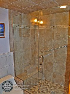 Bathroom Remodel Kirkland Wa shower remodel with arched niches | collins tile and stone