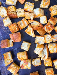 Homemade Spicy Chipotle Baked Croutons