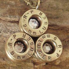 Bullet  Jewelry   Bullet Necklace  Bullet Pendant  by ShellsNStuff,