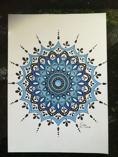 Mandala drawing coloured
