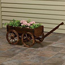 Shop 30 Lawn Ornaments, Planters + Fountains at Northern Tool + Equipment. Browse a variety of top brands in Lawn Ornaments, Planters + Fountains such as Outdoor Water Solutions, Leigh Country, and Stonegate from the product experts. Wooden Planters, Wooden Garden, Lawn And Garden, Garden Tools, Wooden Wagon Wheels, Wagon Planter, Garden Basket, Flower Cart, Lawn Ornaments