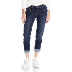 PAIGE Women's Jimmy Jimmy Crop Jean ($189) ❤ liked on Polyvore featuring jeans, stretch blue jeans, stretchy jeans, stretch jeans, cropped boyfriend jeans and saggy jeans