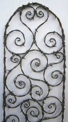 Bodacious Barbed Wire Trellis Bristling With by thedustyraven, $57.00