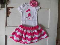 Hey, I found this really awesome Etsy listing at http://www.etsy.com/listing/122995896/girls-pink-chevron-1st-birthday-outfit