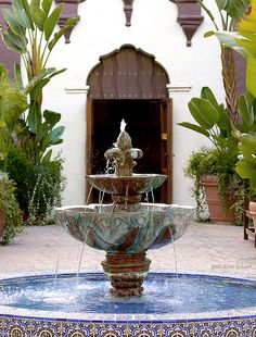 Ventura, California 2.17.13 2 by Marcie Gonzalez.  Very nice shot of one of the fountains of Mission San Buenaventura
