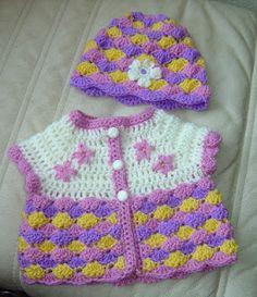 Pretty crochet babyclothes - Mooie gehaakte babykleertjes #crochet #haken