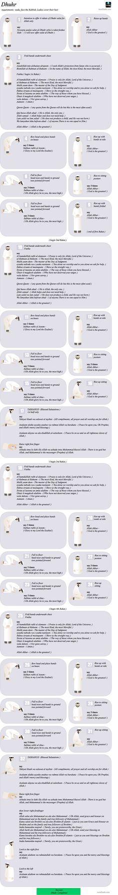 Zohar Namaz Salah info in Detail. http://www.islamic-web.com/namaz-salat/how-to-offer-salat/