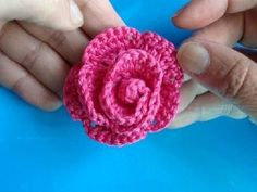 Crochet Rose - Video Tutorial ❥ 4U // hf