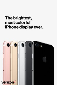 Discover the iPhone 7—an entirely new camera system. The brightest, most colorful iPhone display ever. The fastest performance and best battery life in an iPhone.