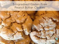 Yum. Yum. Yum. You have to try this Five Ingredient Peanut Butter Cookie Recipe. You'll thank me.