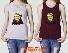 cool Minion Superman parody, Superman Man Of Steel for Gildan Tank Top, Made in USA Apparel Tank Top