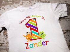 Personalized Monster Birthday Shirt