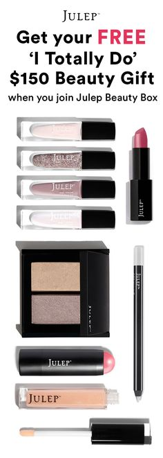 Get this 9-pc wedding perfect beauty gift ON US when you join Julep  Beauty Box ($154 value!). Hurry! Offer ends 6/30/16.