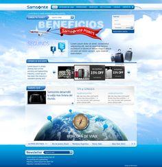 Diseño y desarrollo de website para promoción de Samsonite.