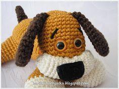 Handmade by Ülkü: Gratisanleitung Amigurumi Süßes Hündchen / Free Pattern Sweet Dog / Tatli Köpekcik