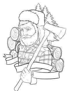 Lumberjack tattoo outline by ziuuziuu on DeviantArt