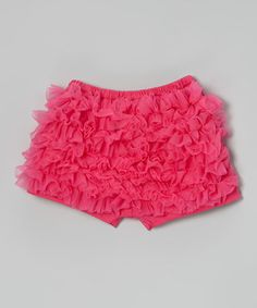 Look what I found on #zulily! Hot Pink Ruffle Shorts - Infant, Toddler & Girls by Diva Daze #zulilyfinds