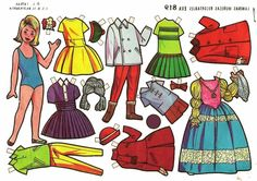 This item is unavailable All Paper, Paper Art, Paper Crafts, Papercraft Anime, Nostalgic Art, Vintage Paper Dolls, Paper Models, Doll Accessories, Doll Clothes