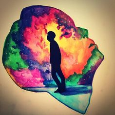 Jin BTS water color silhouette fanart DNA. Bts Drawings, Dna, Fanart, My Arts, Silhouette, Watercolor, Disney Princess, Disney Characters, Painting