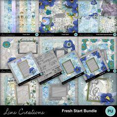 Digital Scrapbooking Kits | Fresh start bundle-(LinsCre) | Family, Friends, Heritage, Memories, Seasons - Spring | MyMemories