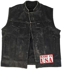 The Reckless Outlaw features a premium select 3.0 oz (1.2mm) cowhide leather which has been specifically tanned and finished to accentuate a worn in look. We then use an exclusive proprietary antiquing method designed to further bring out the vintaged look in the leather. The end result...  More details at https://jackets-lovers.bestselleroutlets.com/mens-jackets-coats/vests/product-review-for-legendary-usa-mens-reckless-outlaw-motorcycle-vest-with-concealed-carry/