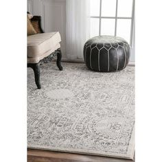 nuLOOM Traditional Honeycomb Grey Rug (8' x 10') - Free Shipping Today - Overstock.com - 18987524 - Mobile