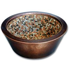 Attrayant Linkasink V006 Double Walled Copper Mosaic Vessel Sink   Wave Plumbing