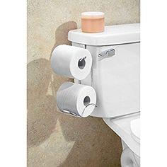 InterDesign Classico Toilet Paper Holder for Bathroom Storage, Over the Tank - Horizontal, Chrome