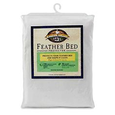 Amazon.com: Pacific Coast® Feather Bed Cover w zip closure Queen(feather bed not included) 157: Home & Kitchen