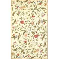 You'll love the Colonial Ivory Floral Area Rug at Wayfair - Great Deals on all Rugs  products with Free Shipping on most stuff, even the big stuff.