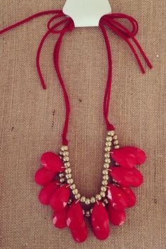 Mini Spring Bling Necklace ~ Red, $20.00